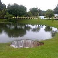 This sinkhole opened up at a Gainesville community in 2012.