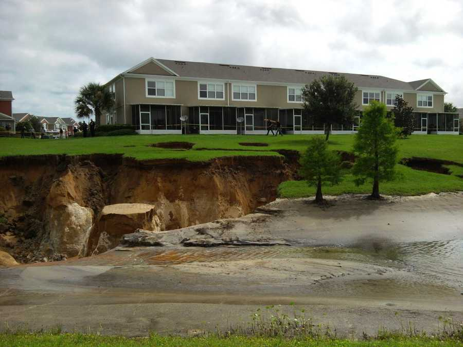 This sinkhole opened up at the Wynchase Townhomes in Ocala in 2012.