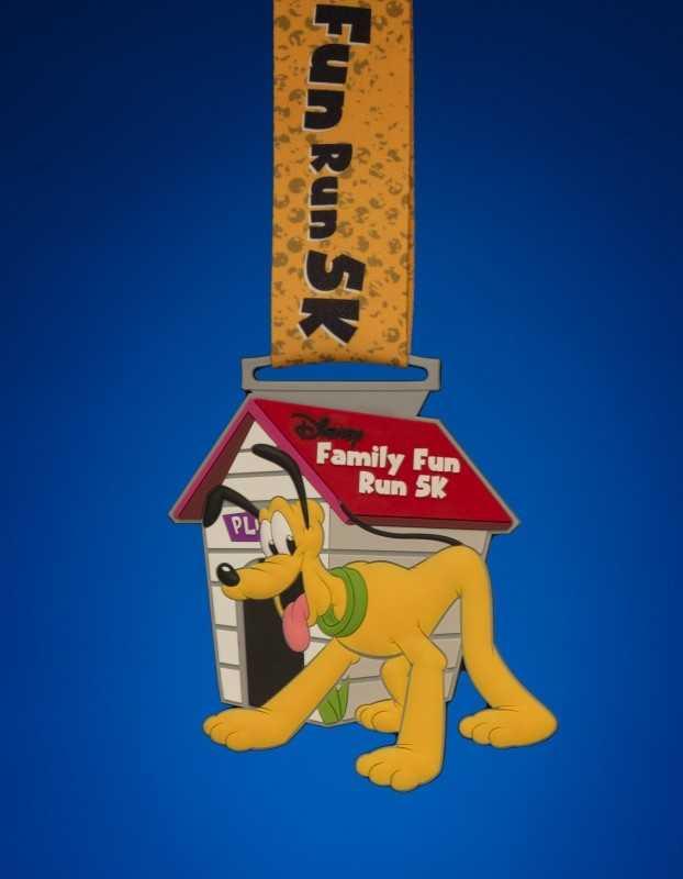 Family fun run 5K medal