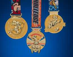 2014 will be the first year that guests will be able to run a 5K, 10K, half and full marathon. Runners who complete the Dopey Challenge will be awarded six medals.  Take a look at all of them.