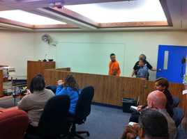 Oct. 25 (3 p.m.) - Toledo appears in court on a domestic battery charge and is held without bond.
