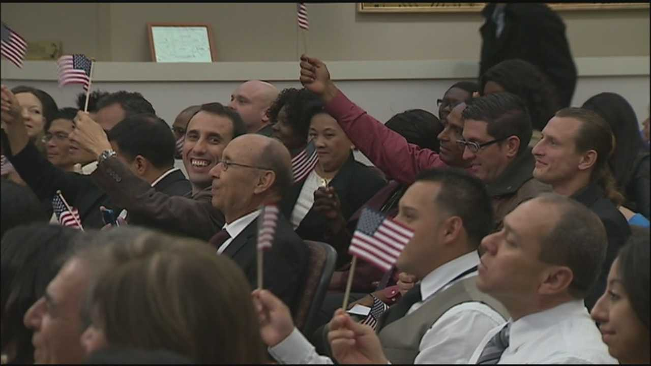 Forty-one people from all over the world now understand the joy of being an American after a naturalization ceremony in Orange County on Monday.