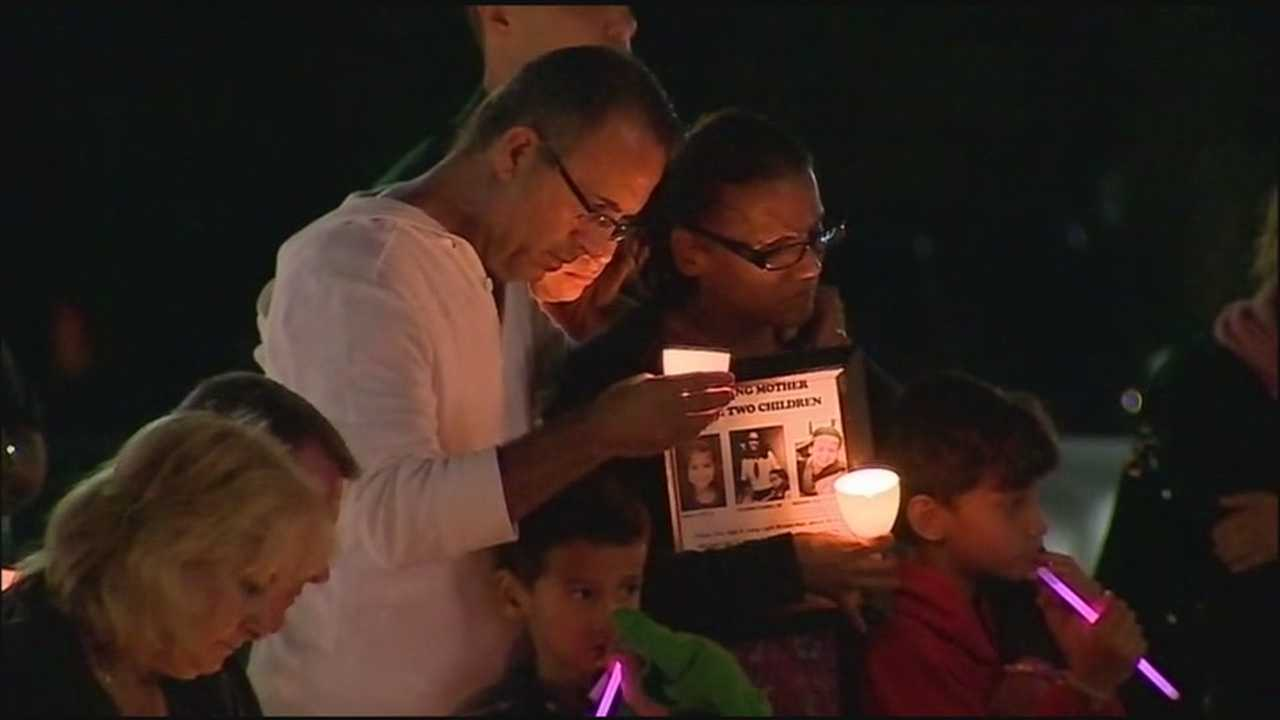 Yessenia Suarez's family attended a domestic violence vigil Tuesdsay night.