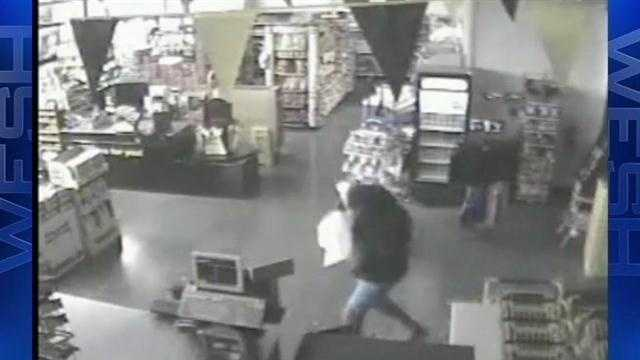 The search continues for a burglar, who hit a store in Flagler County.