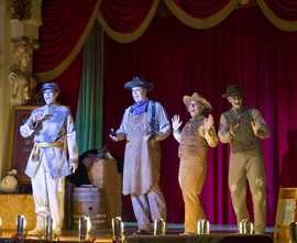 Performances include hostess Miss Betty Blue, the a capella stylings of the Cadaver Dans, the magician Abner Cadaver and Dearly Deaparted Stan the piano player.You can also catch the Cadaver Dans during the daytime hours of the Magic Kingdom as well.