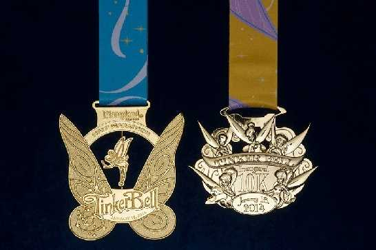 A new 10K race was added to the weekend and includes a new medal themed around Tinker Bell.