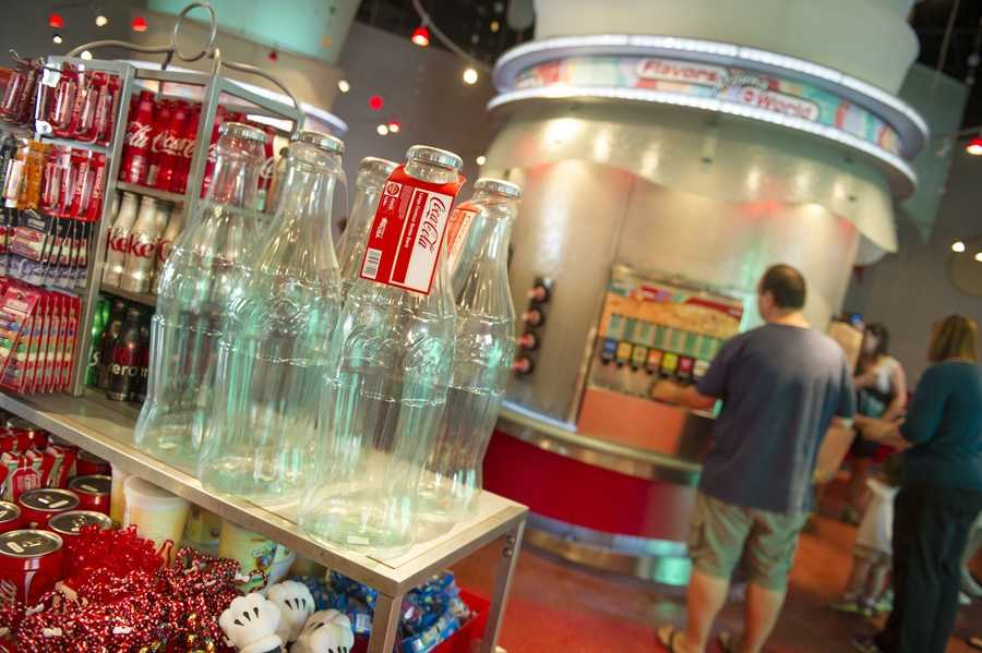 Guests can also take home Coca-Cola's famous glass bottles after trying Epcot's new flavors.