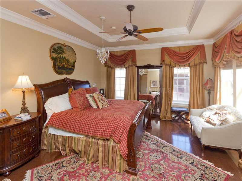 The home boasts six spacious bedrooms.