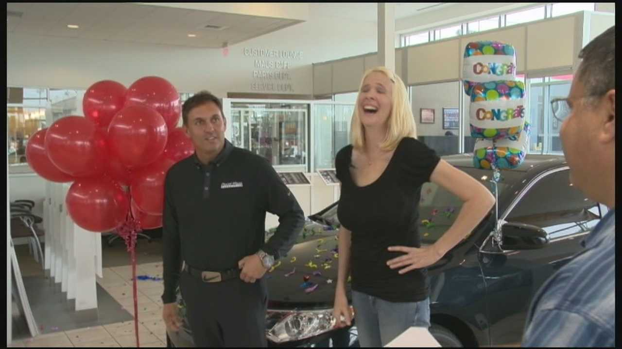 The winner of the WESH 2 - David Maus Kickoff for a Camry picked up her free car Monday.