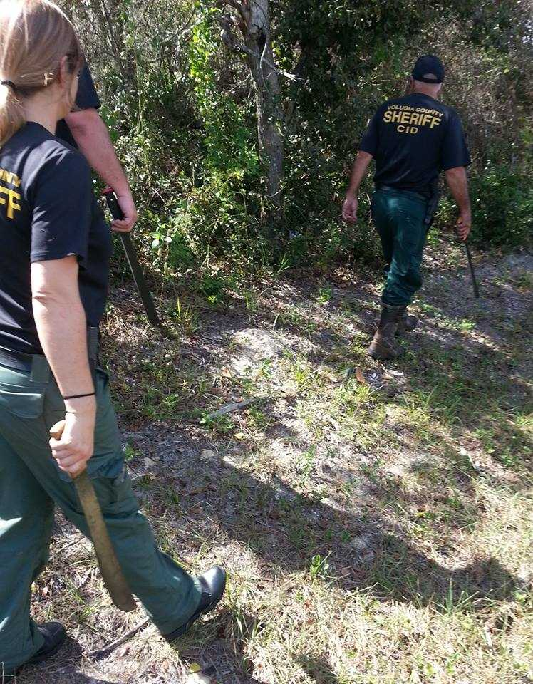 Nov. 6 - Texas Equusearch helps the Volusia County Sheriff's Office identify areas to search.