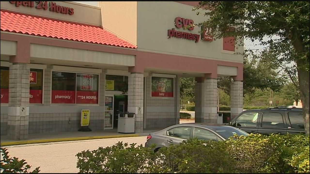 The CVS on John Young Parkway was robbed but police aren't sure if the robber had someone be a lookout in the store.