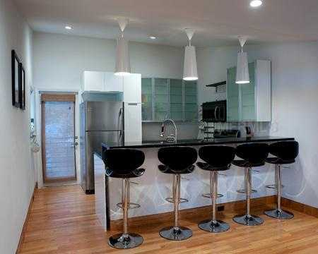 The apartments kitchen is renovated with the finest stainless steel appliances.