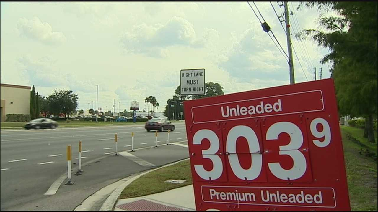 Gas prices are falling close to $3 in Central Florida. Analysts say domestic oil supplies, the amount being produced in the United States, is as high as its been in 20 years.