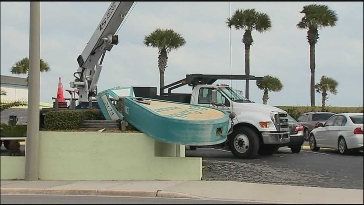 Tropical storm force winds were felt in Volusia County on Wednesday.
