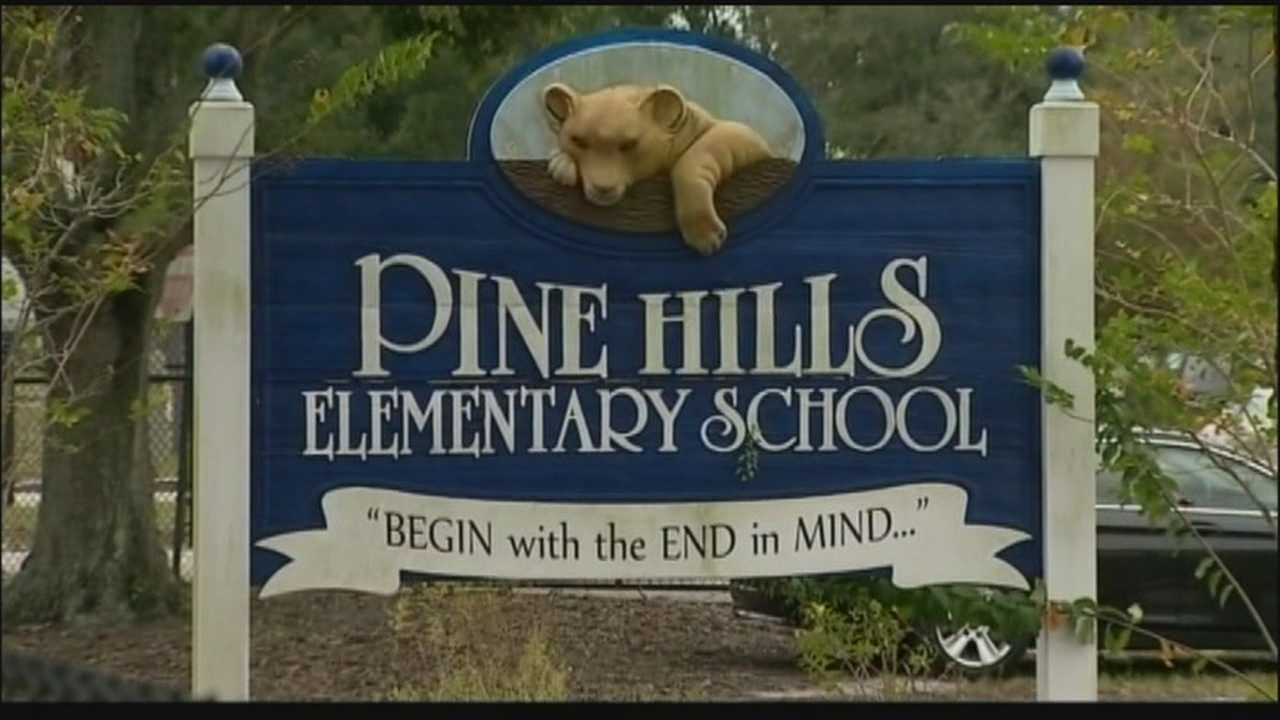 A third grader from Pine Hills Elementary school was seen threatening another student with a knife during breakfast.  A parent saw the incident and reported the student to the principal's office before anyone got hurt.