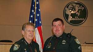 Deputy John Braman received the Deputy of the Year award from Volusia County Sheriff Ben Johnson in March 2012.