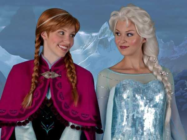 """Anna (left) and Elsa (right) are the two new characters from Disney's newest film """"Frozen"""". Based off of the fairy tale """"The Snow Queen"""" by Hans Christian Andersen, Disney puts a fun, new spin on the original fairy tale and includes actors Kristen Bell, Idina Menzel, Josh Gad, and Jonathan Groff. Click through to view more pictures of Anna and Elsa."""