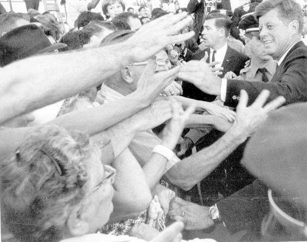 JFK then went to Miami and was greeted by a large crowd.
