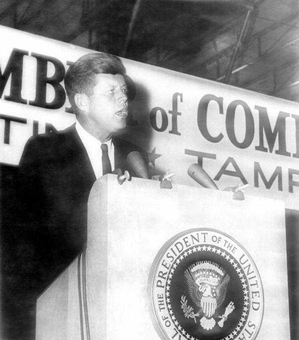 Another picture of Kennedy in Tampa at the Florida State Chamber of Commerce meeting.