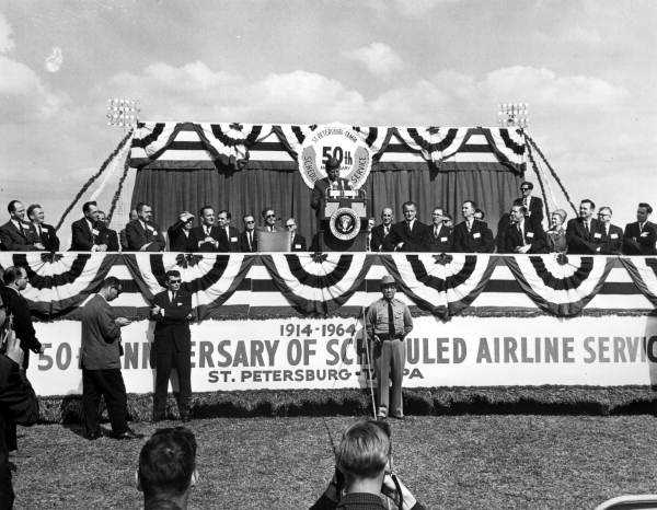 Also on Nov. 18, 1963, Kennedy spoke at the Airline Service Anniversary in Tampa.