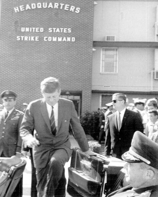 The President also made an appearance at the United States Strike Command headquarters in Tampa on Nov. 18, 1963.