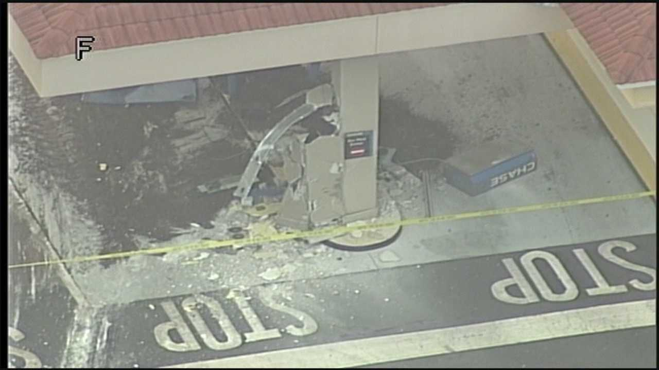 Front End Loader used to steal ATM