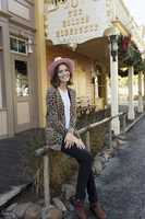 """Mandy Moore, who is the voice of a heroic kitty cat sheriff in the new Disney Junior series """"Sheriff Callie's Wild West,"""" visited the Disneyland park last week. The show premieres on Nov. 24."""