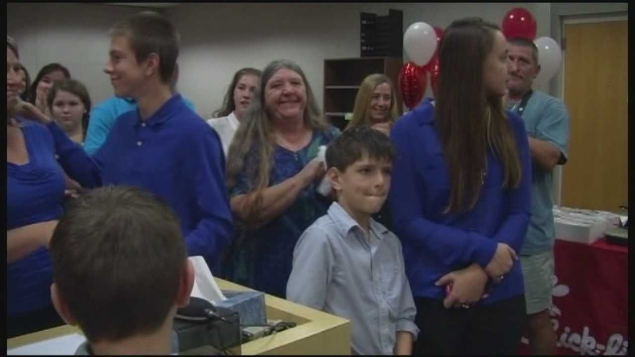 In a new Brevard County record, a family has adopted six children