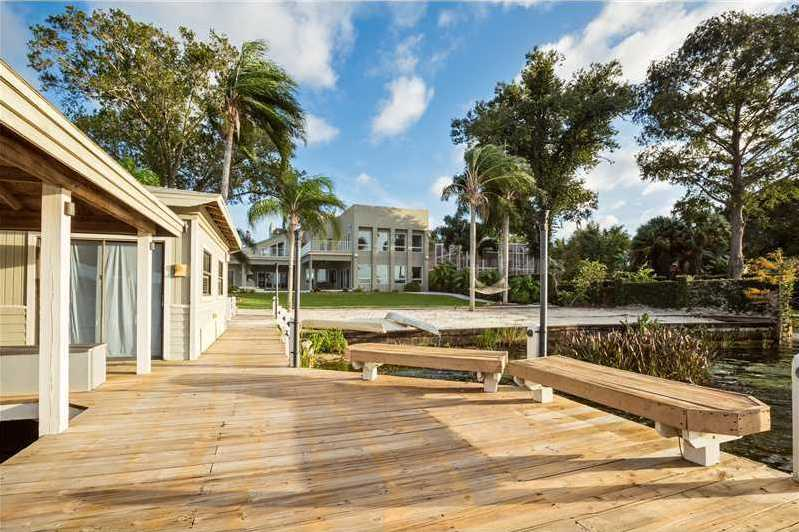 The boathouse is air-conditioned to maintain the home's level of luxury.