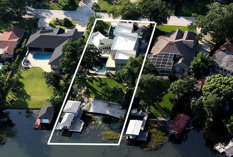 In total, the home is 4,838 sq. ft. and sits on 0.91 acres.
