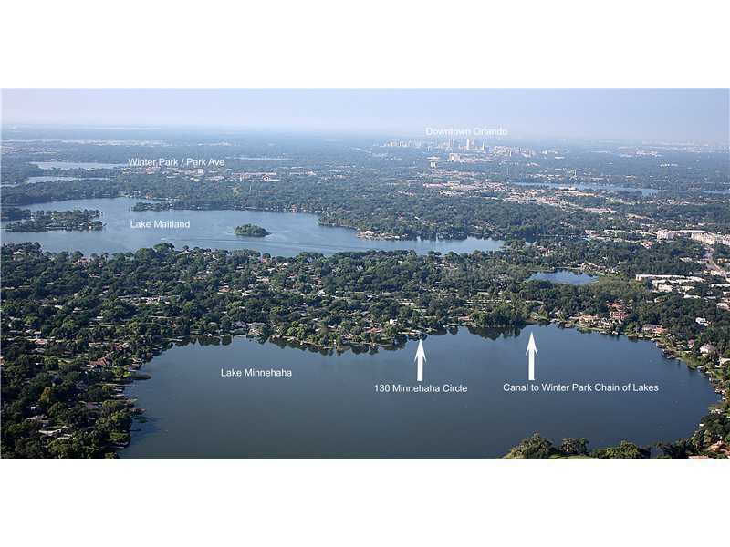 This aerial view may give you a better idea of where the home is located. The location makes commuting to Winter Park, Downtown Orlando, and I-4 an easy ride. For more information on this property, visit Realtor.com.