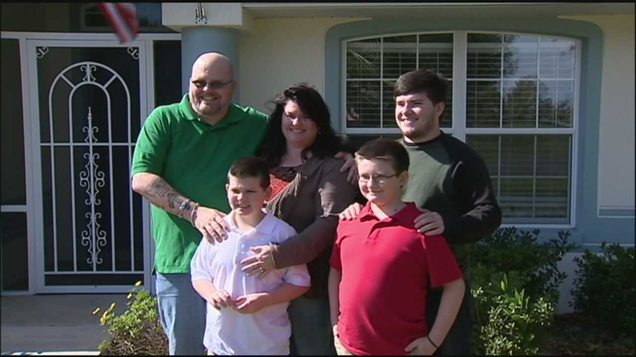 United States Army veteran gets new home.