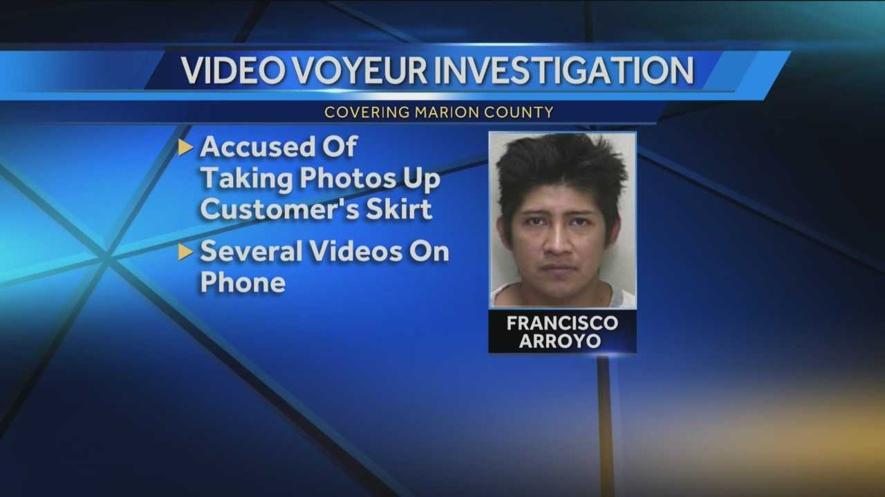 A local man is accused of video voyeurism.