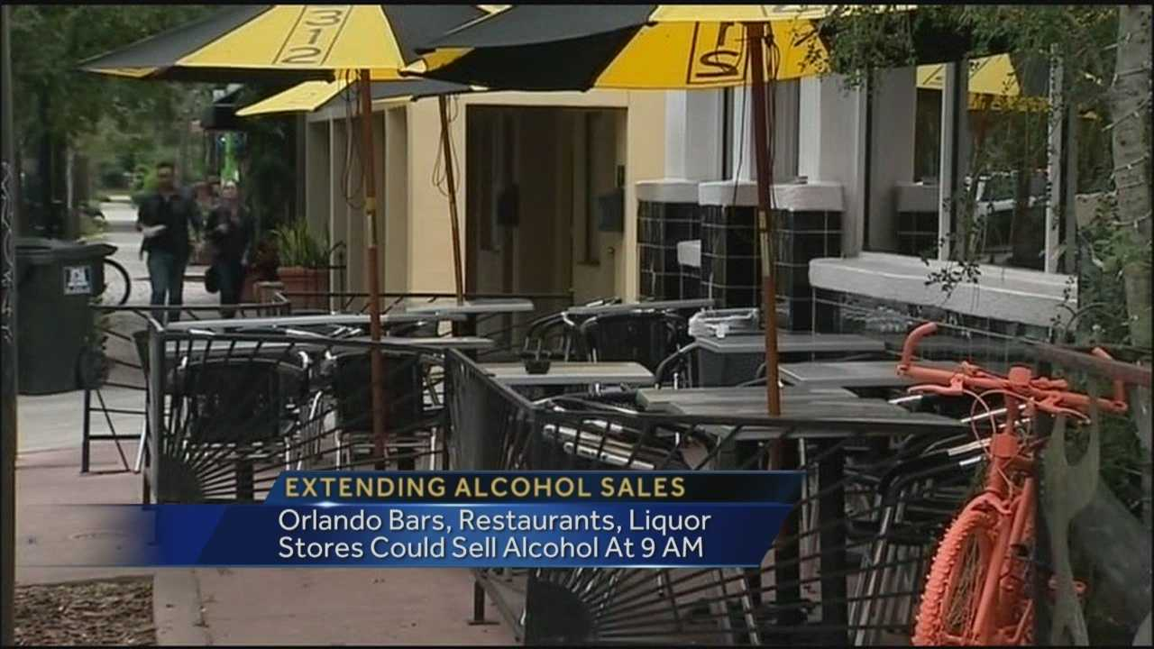 Should Orlando allow residents to purchase alcohol earlier on Sunday?
