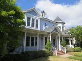 This beautiful Victorian home sits on 0.32 acres. If you'd like more information on this property, visit Realtor.com.