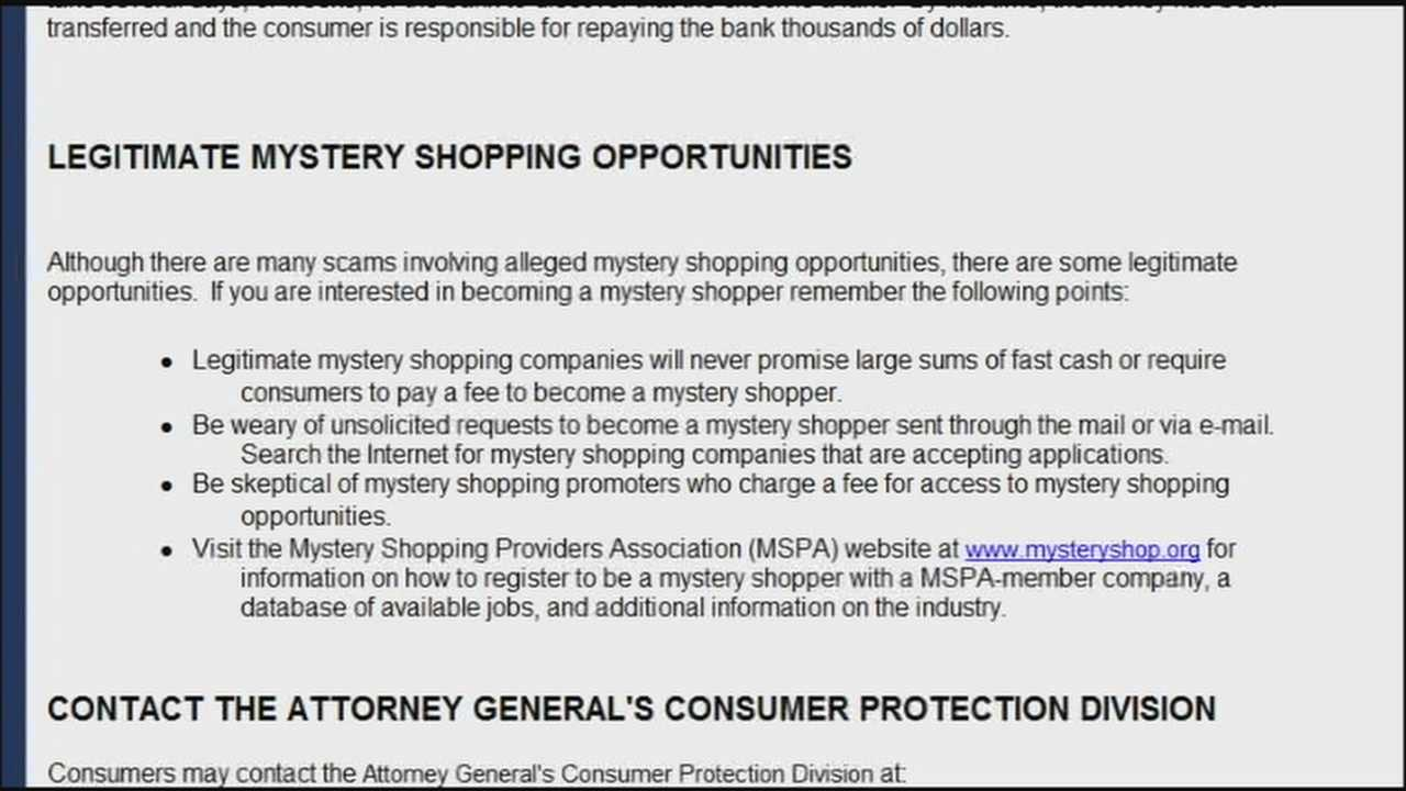 Secret shopper scam targets job seekers