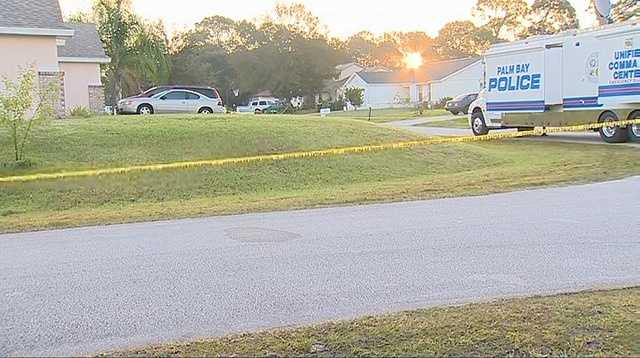 Officials in Palm Bay are investigating a shooting that left two people dead overnight.