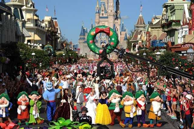 Neil Patrick Harris, The Wanted, Ne-Yo and IL VOLO visited the Disney Parks on Dec. 7 to tape performances for the Disney Parks Christmas Parade TV special.