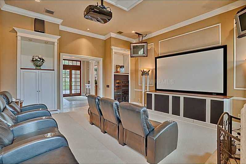 The theater provides a sophisticated entertainment experience that guests will surely enjoy.