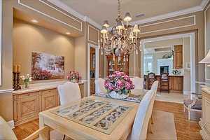 This room's elegant interior design embraces Florida charm.
