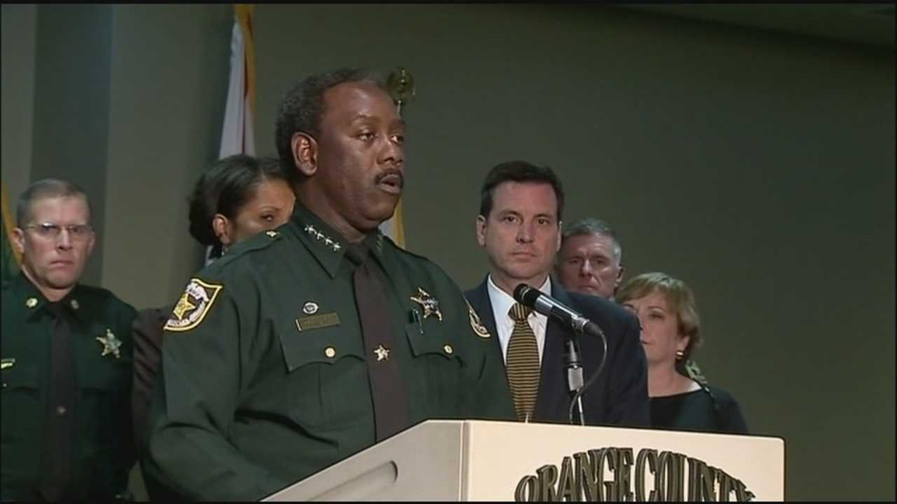 The Orange County Sheriff and local officials called for an end of juvenile gun violence Monday.