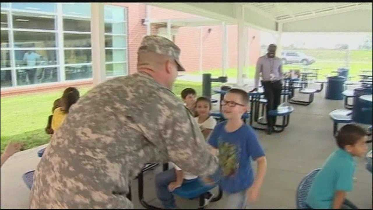 Just in time for the holidays, a soldier returns home to Marion County to spend Christmas with his children.