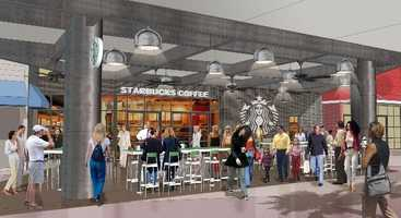 Starbucks will move downstairs and double in size.