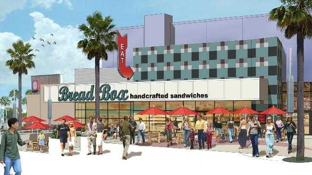The Bread Box, serving handcrafted sandwiches, will move in next to the theater.