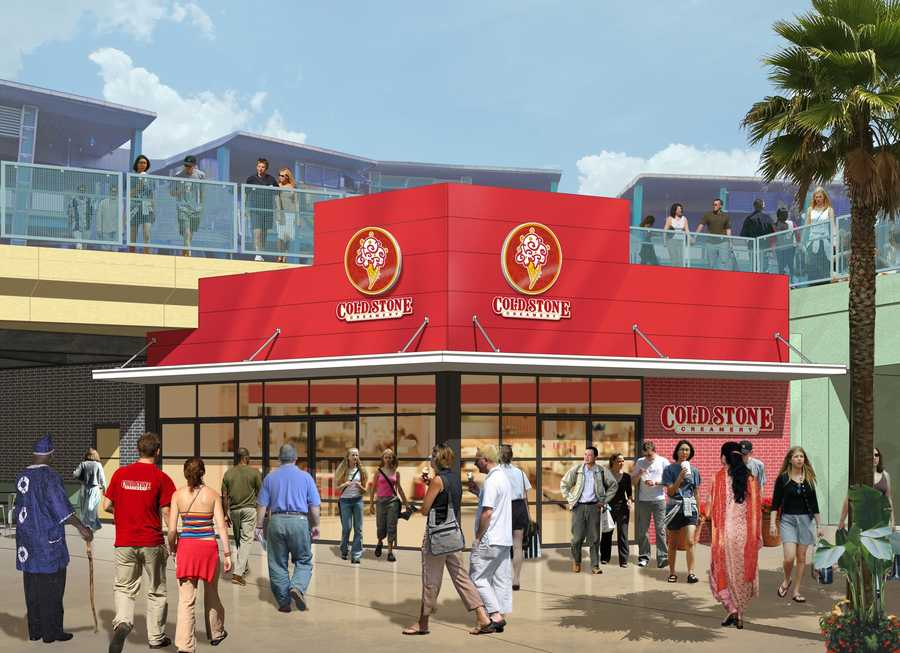 Cold Stone Creamery will be added to the downstairs portion of City Walk.