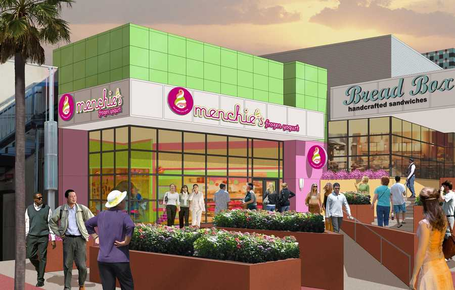 Menchies will be located next to The Bread Box.