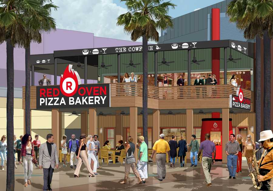 Red Oven Pizza Bakery is one of the new venues that is already open. It features a traditional 900-degree stone-lined oven and is City Walk's first-ever Neopolitan-style pizza bakery.