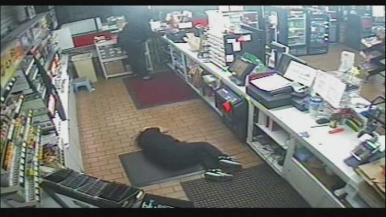 A convenience store clerk was severely injured early Thursday morning during a robbery that was caught on surveillance video.
