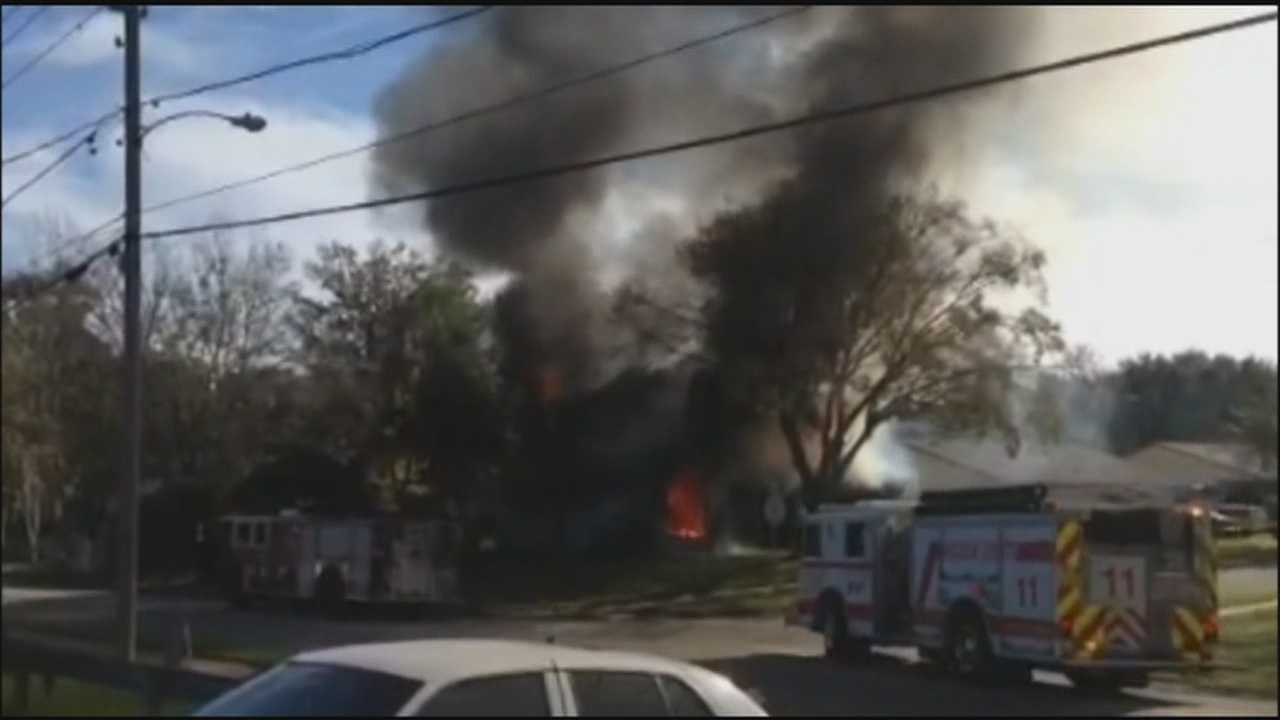 A fire broke out in a home in Volusia County on Friday morning, and authorities said there are unusual circumstances surrounding who was in the home at the time.