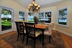 Take a look at the panoramic views from this charming dining nook.